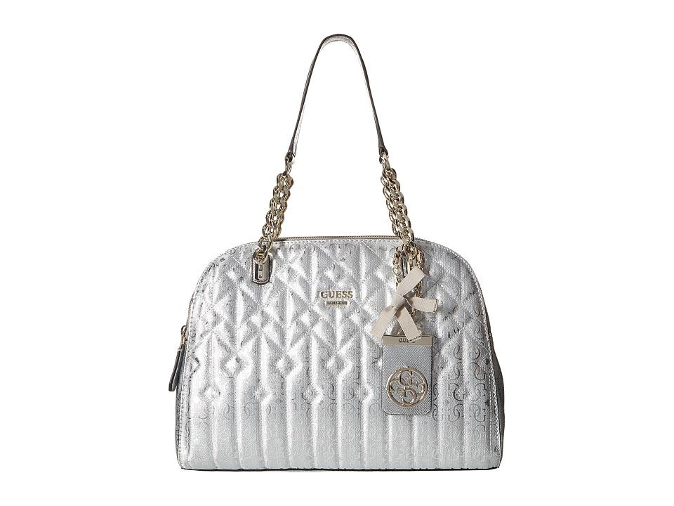 GUESS - Malena Cali Satchel (Silver) Satchel Handbags