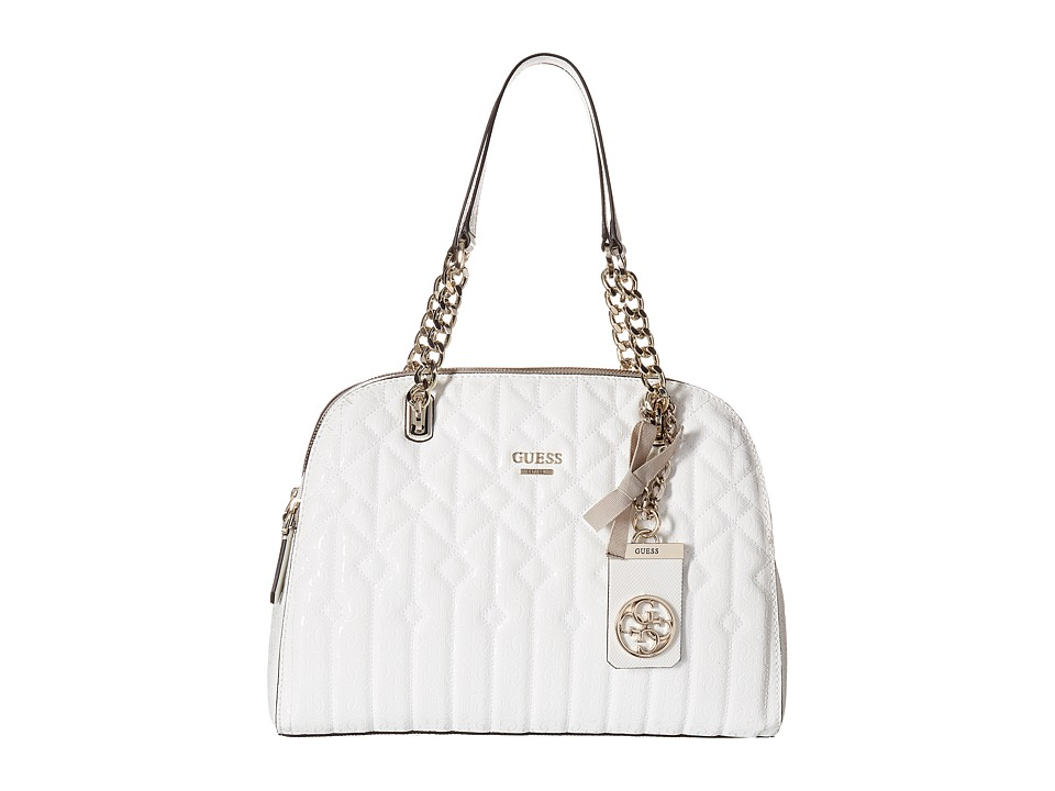 GUESS - Malena Cali Satchel (White) Satchel Handbags