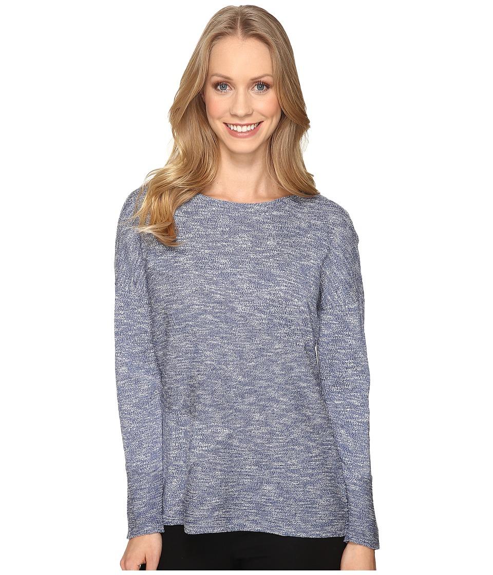 NIC+ZOE - Bright Horizon Top (Blue Opal) Women's Sweater