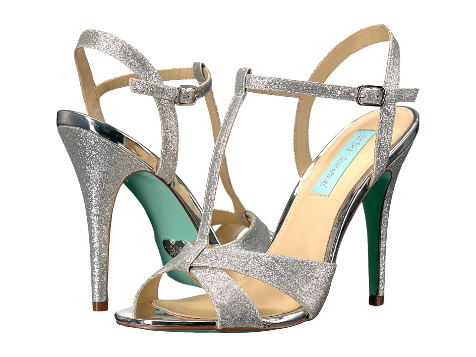 Blue by Betsey Johnson Teena (Silver Glitter) High Heels