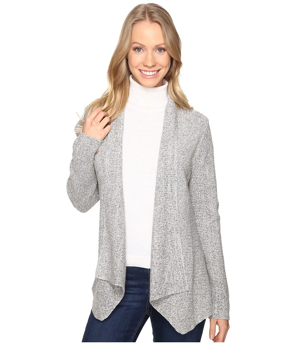 NIC+ZOE - Pixel Pop Cardy (Heather Grey) Women's Sweater