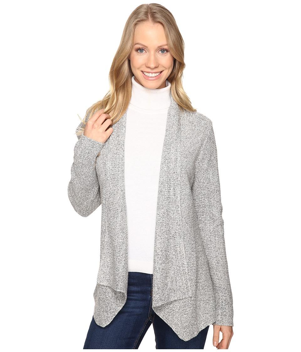 NIC+ZOE - Pixel Pop Cardy (Heather Grey) Women's Sweater