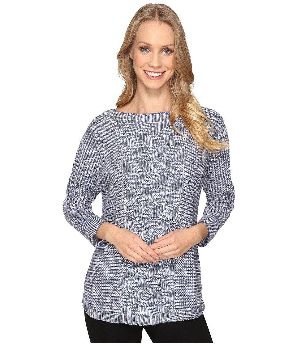 NIC+ZOE - Electric Boost Top (Blue Opal) Women's Clothing