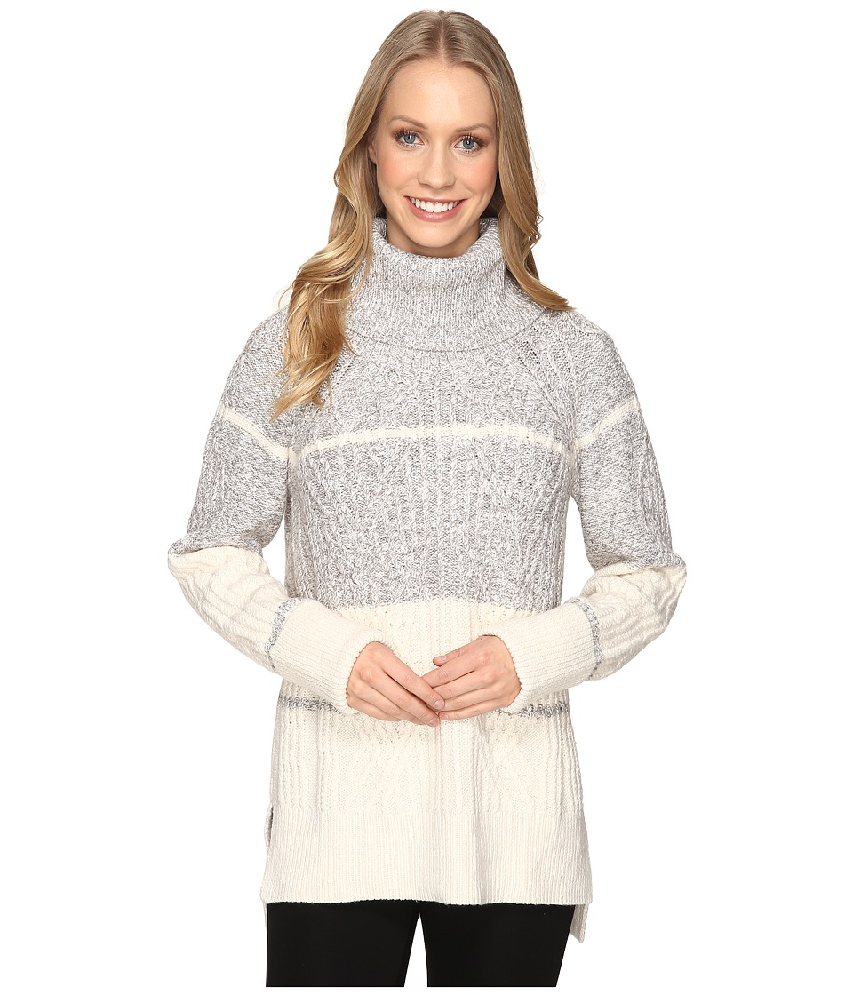 NIC+ZOE - Boarderlines Turtleneck (Heather Grey) Women's Sweater