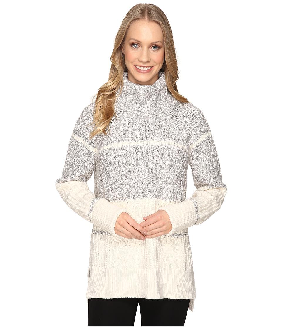NIC+ZOE - Boarderlines Turtleneck (Heather Grey) Women's Sweater