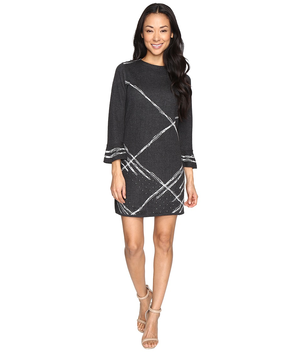 NIC+ZOE - Petite Checked Cuff Dress (Multi) Women's Dress