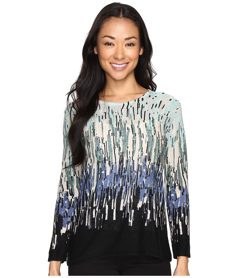 NIC+ZOE - Petite Glowing Edge Top (Multi) Women's Sweater