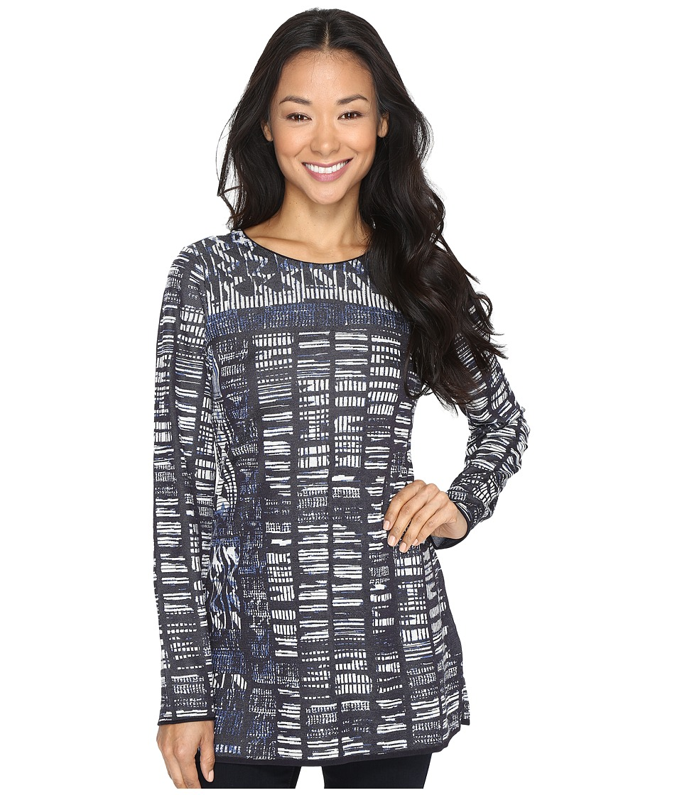 NIC+ZOE - Blue Streak Top (Multi) Women's Clothing