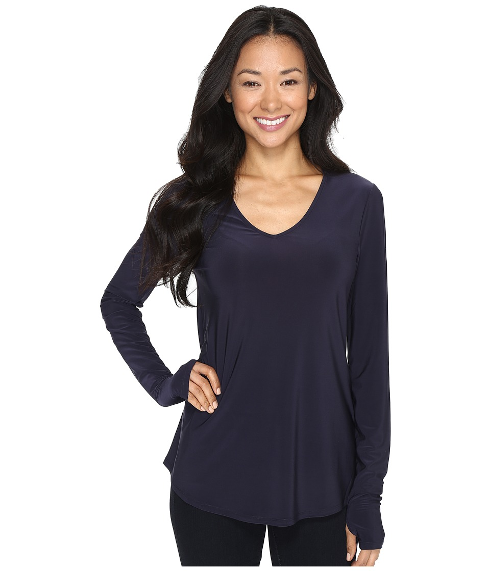 NIC+ZOE - Luxe Jersey Layer Top (Midnight) Women's Clothing