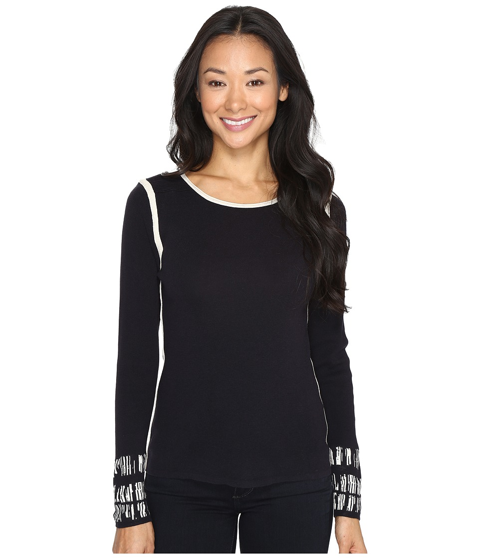 NIC+ZOE - Limitless Top (Midnight) Women's Clothing