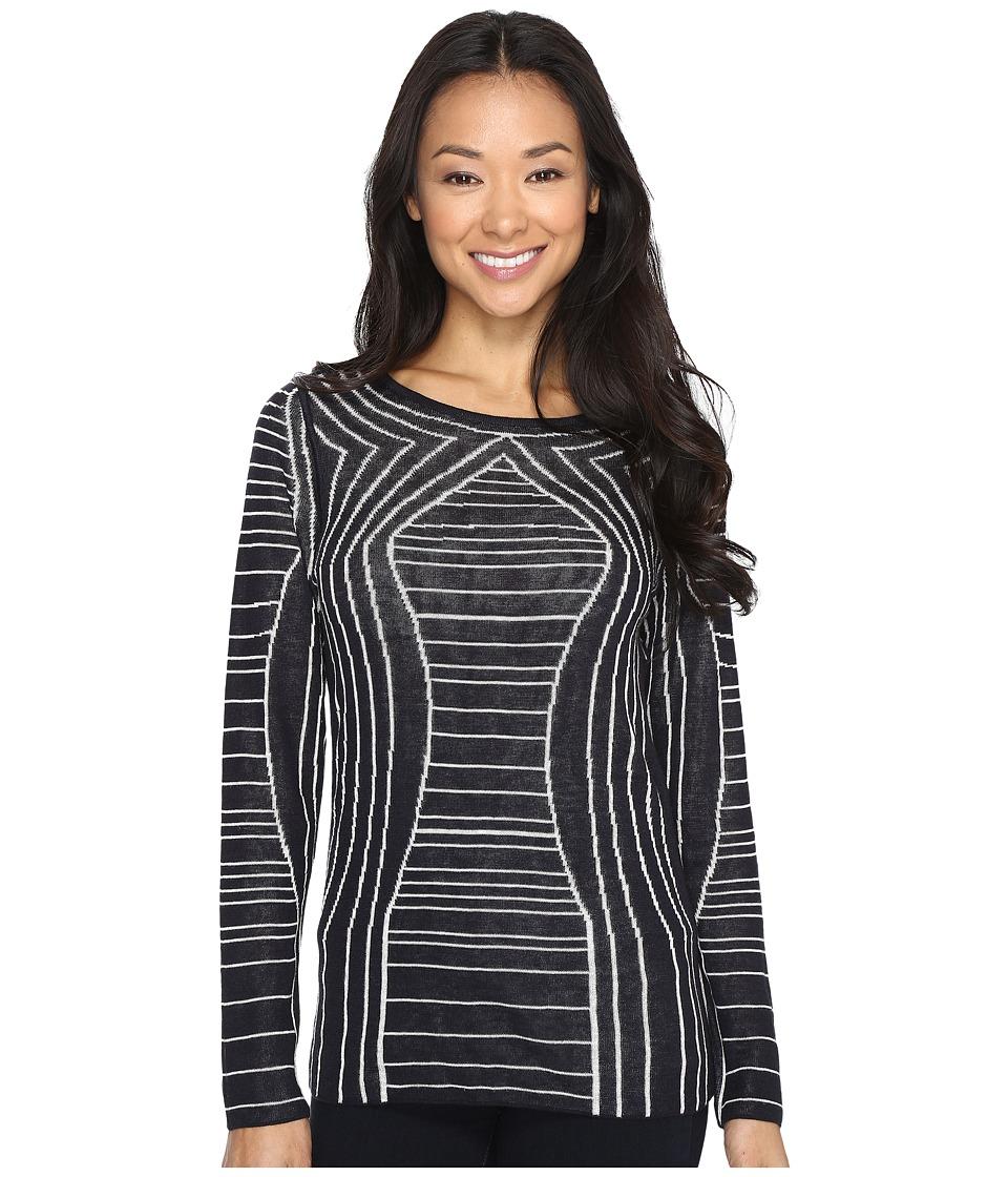 NIC+ZOE - Reversible Urban Stripe Top (Multi) Women's Sweater