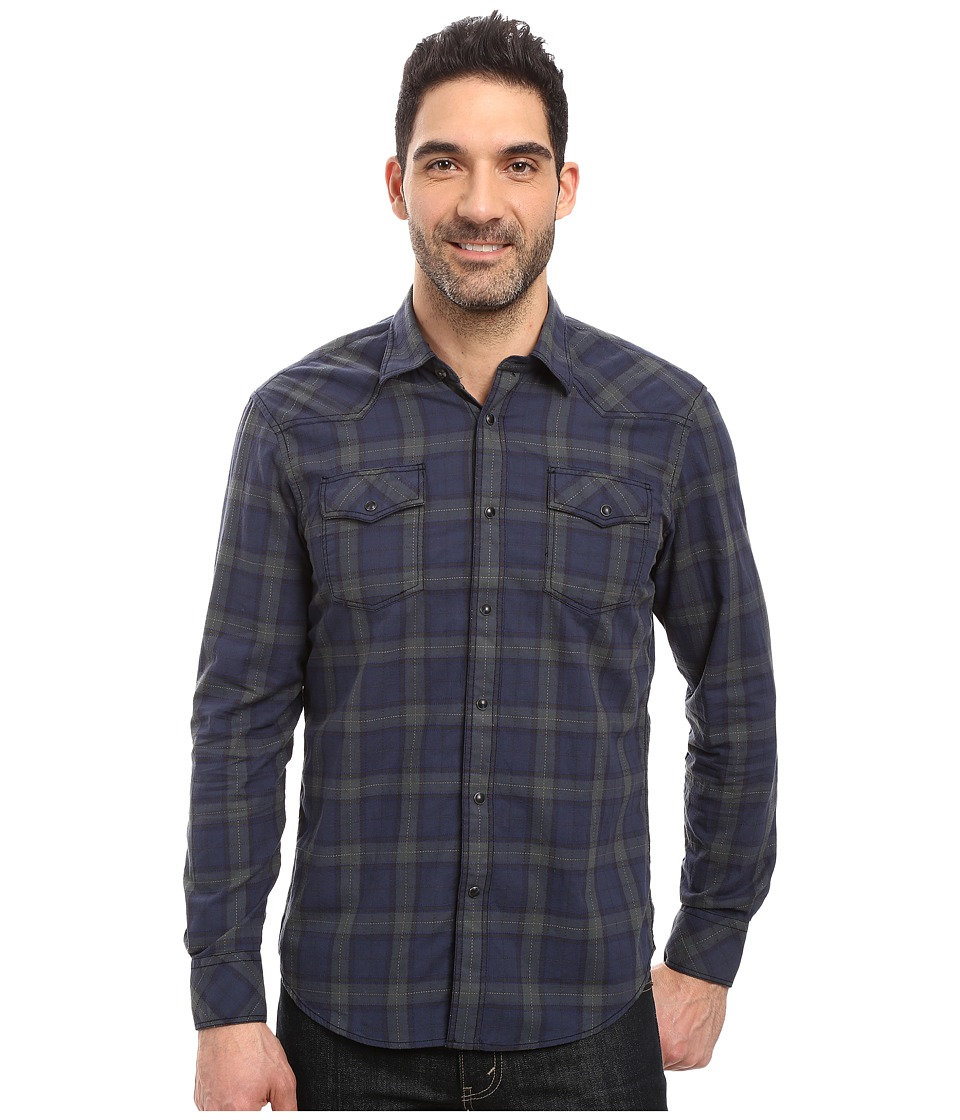 James Campbell - Long Sleeve Woven Scot Vaquero (Forest) Men's Long Sleeve Button Up