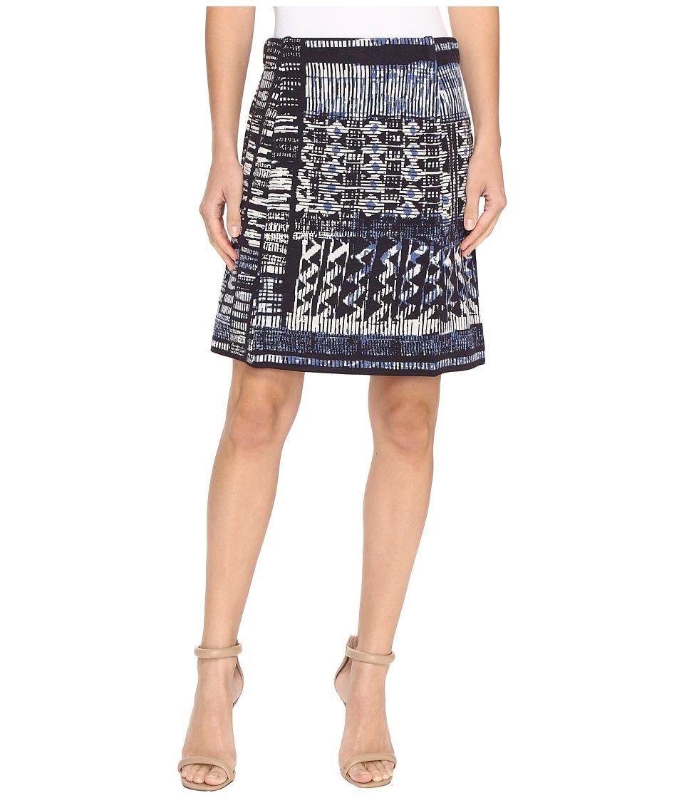 NIC+ZOE Blue Streak Skirt (Multi) Women
