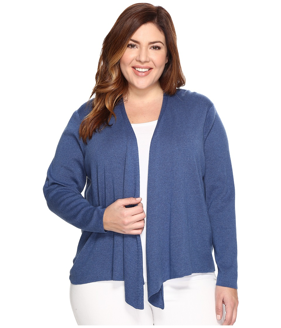 NIC+ZOE - Plus Size 4-Way Cardy (Blue Opal) Women's Sweater