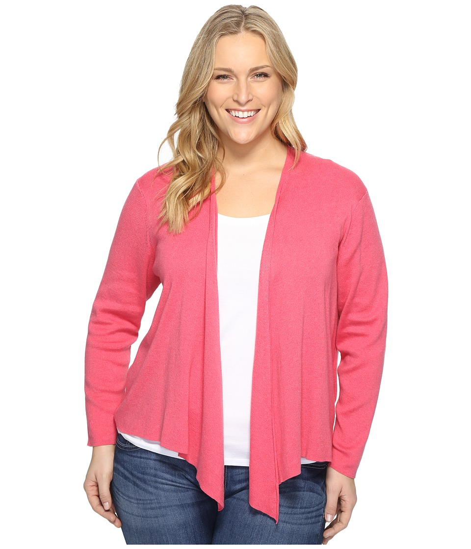 NIC+ZOE - Plus Size 4-Way Cardy (French Rose) Women's Sweater