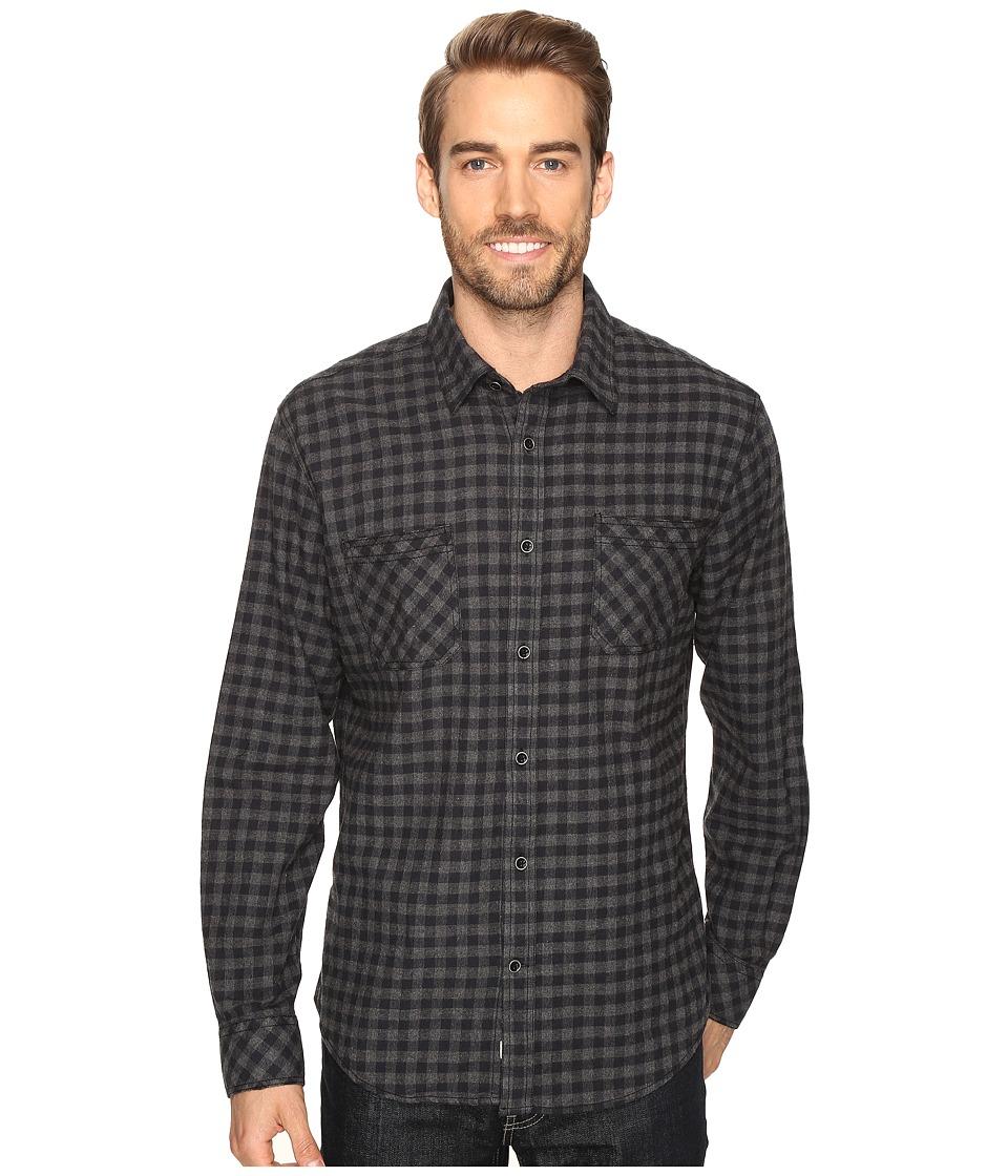 James Campbell - Long Sleeve Woven Bueno Check (Black) Men's Long Sleeve Button Up