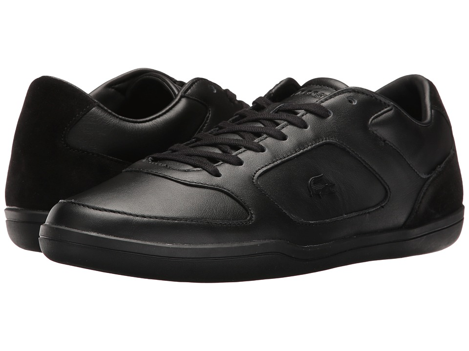 Lacoste - Court-Minimal 117 1 Cam (Black) Men's Shoes