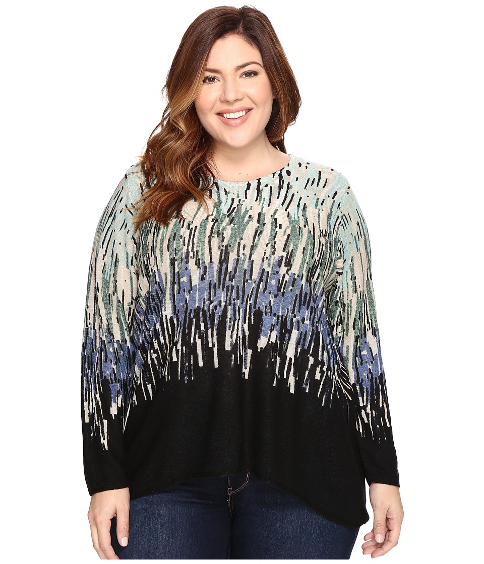 NIC+ZOE - Plus Size Glowing Edge Top (Multi) Women's Sweater
