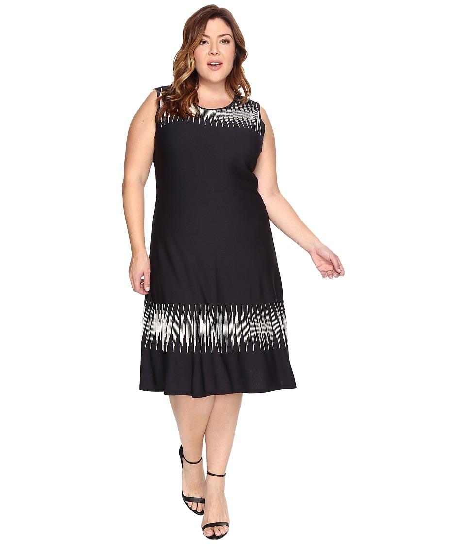 NIC+ZOE - Plus Size Breaking Waves Twirl Dress (Multi) Women's Dress