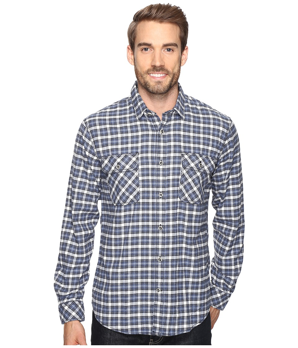 James Campbell - Long Sleeve Woven Gonzalo Plaid (Blue) Men's Long Sleeve Button Up