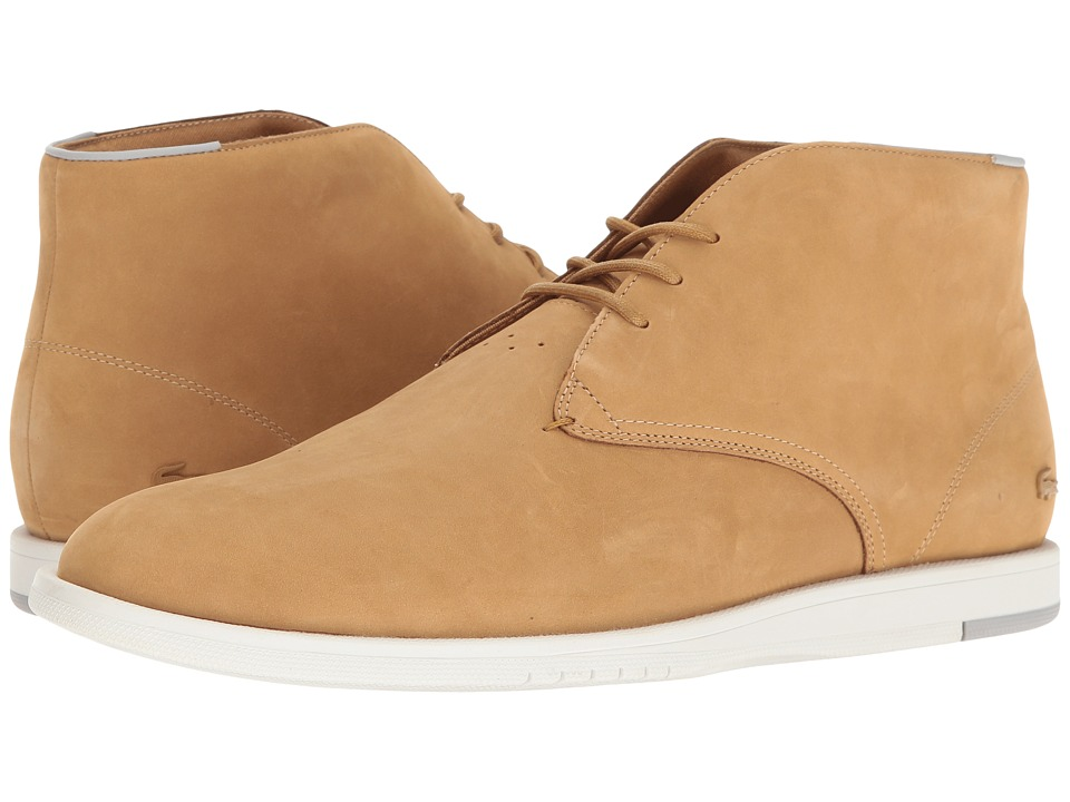 Lacoste - Laccord Chukka 117 1 Cam (Dark Tan) Men's Shoes