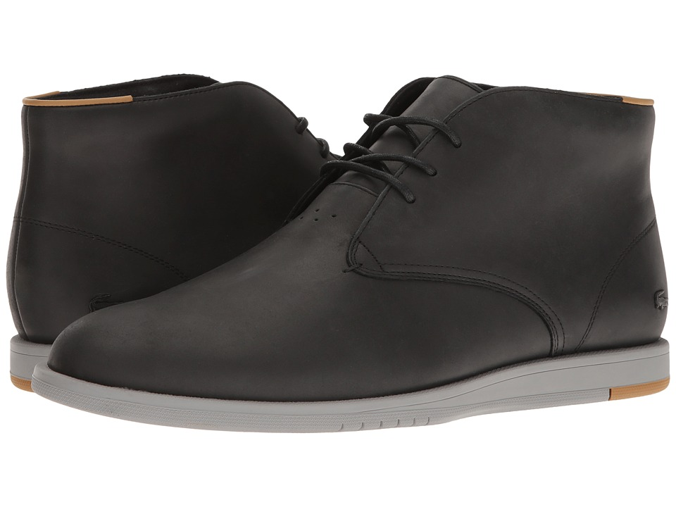 Lacoste - Laccord Chukka 117 1 Cam (Black) Men's Shoes