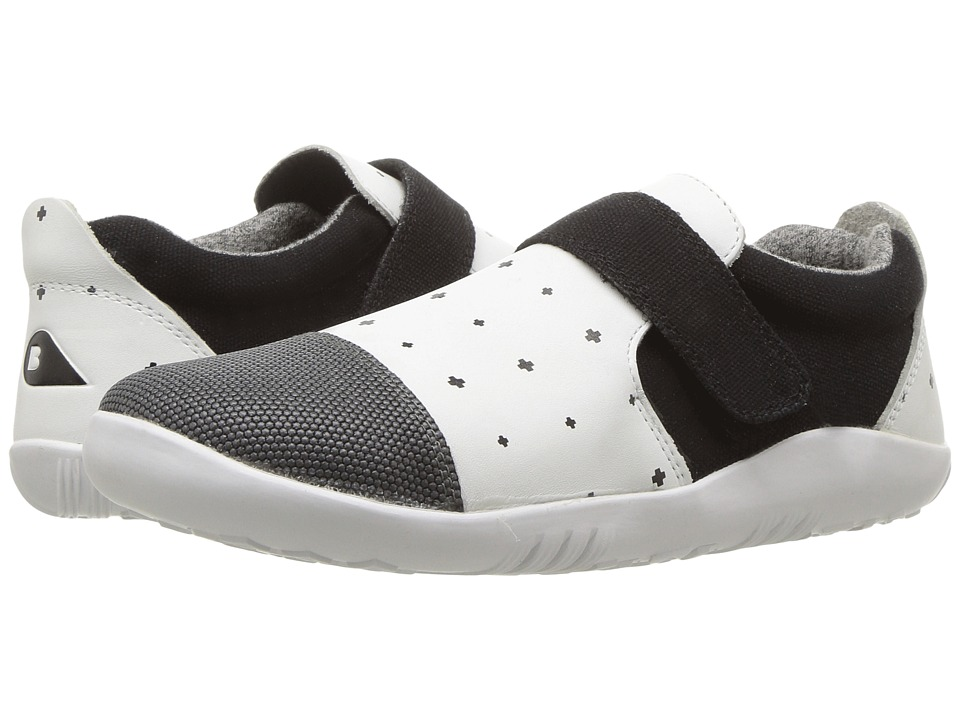 Bobux Kids - Kid+ Play Aktiv Plus (Toddler/Little Kid) (White/Black Plus) Kid's Shoes