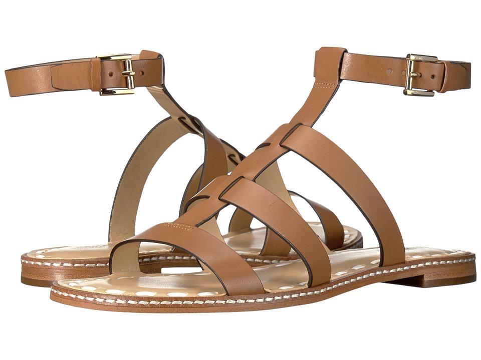 MICHAEL Michael Kors - Fallon Flat Sandal (Acorn/White Vachetta) Women's Sandals