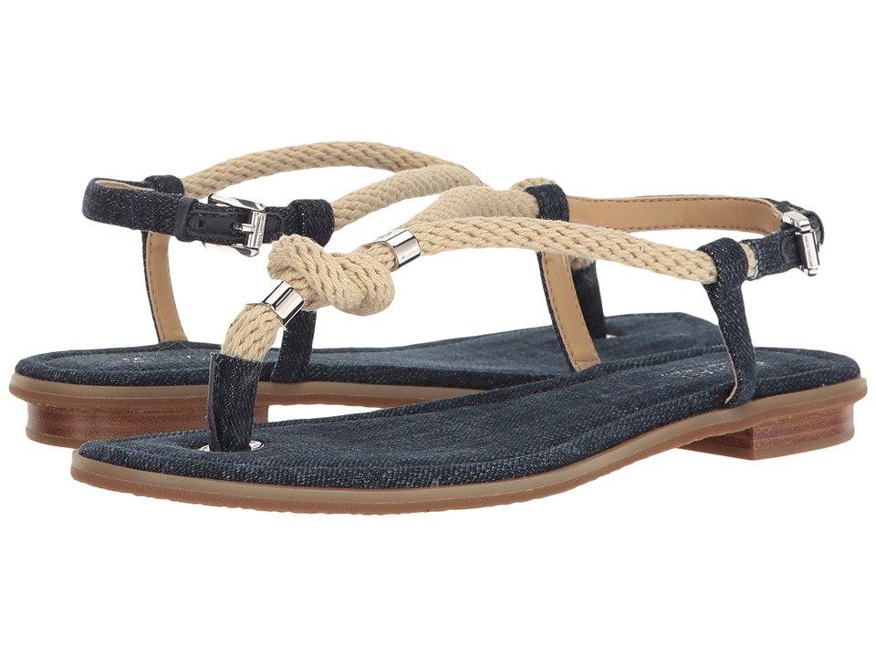 MICHAEL Michael Kors Holly Sandal (Indigo Denim/Rope) Women