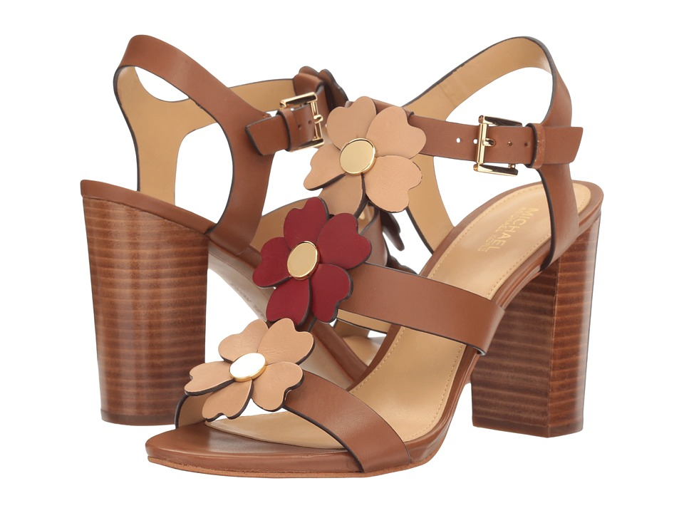 MICHAEL Michael Kors - Kit Sandal (Luggage/Toffee Vachetta) Women's Sandals