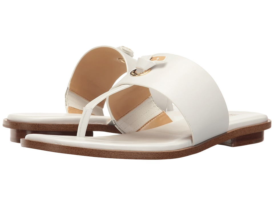 MICHAEL Michael Kors - Cindy Sandal (Optic White Vachetta) Women's Sandals