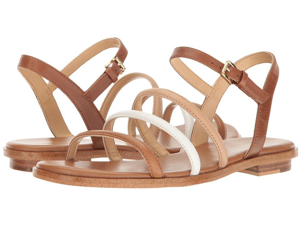 MICHAEL Michael Kors Nantucket Flat Sandal (Luggage/Toffee Vachetta) Women
