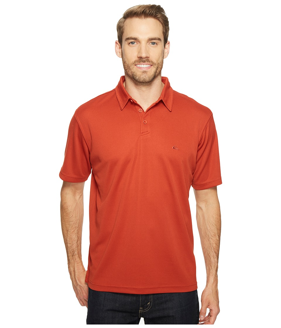 Quiksilver Waterman - Water Polo 2 Short Sleeve Knit Polo (Red Ochre) Men's Short Sleeve Pullover