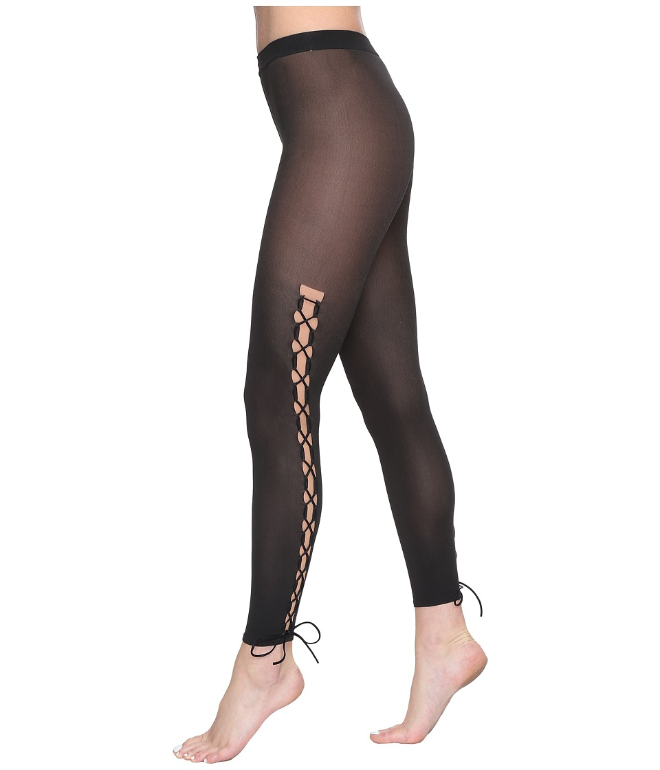 Wolford - Lace-Up Leggings (Gobi/Black) Hose