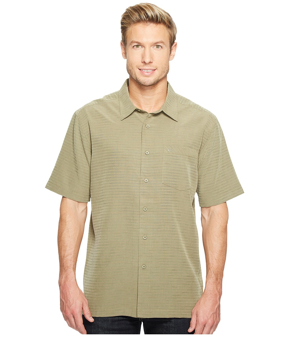 Quiksilver Waterman - Centinela 4 Traditional Polynosic Woven Top (Kelp 1) Men's Clothing