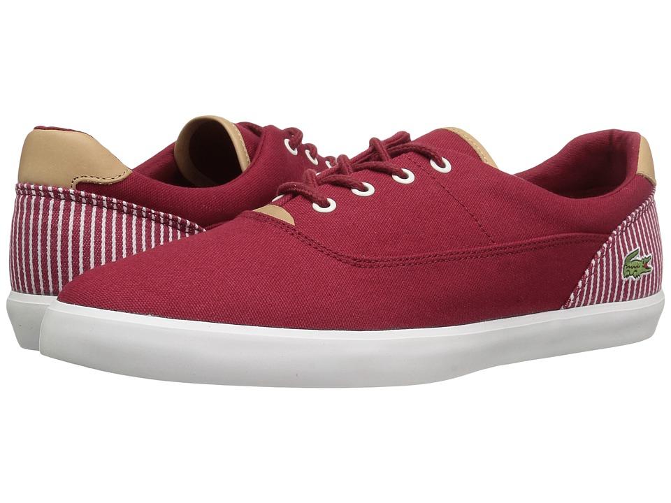 Lacoste - Jouer 117 1 Cam (Dark Red) Men's Shoes
