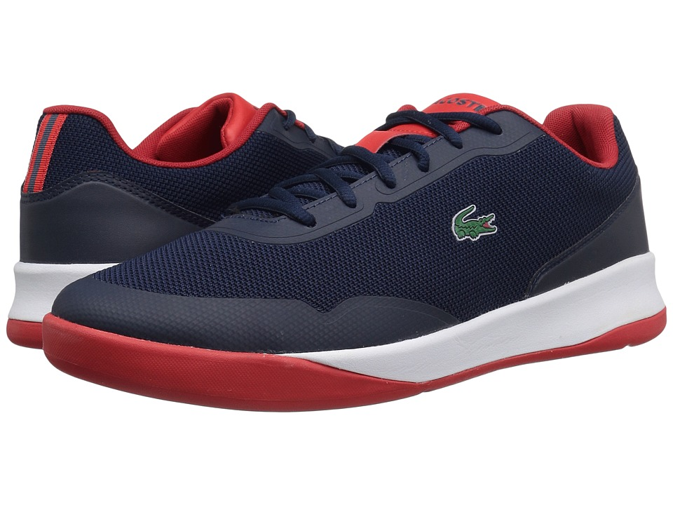 Lacoste - LT Spirit 117 1 SPM (Navy/Red) Men's Shoes