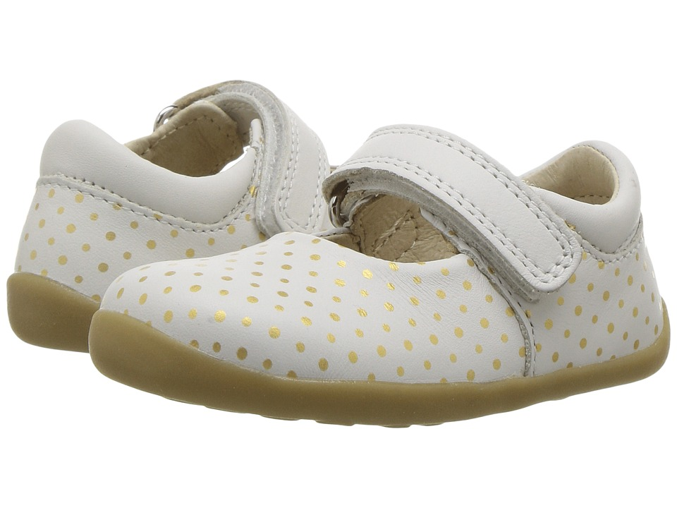 Bobux Kids - Step Up Classic Dance (Infant/Toddler) (Whilte/Gold Spots) Girl's Shoes
