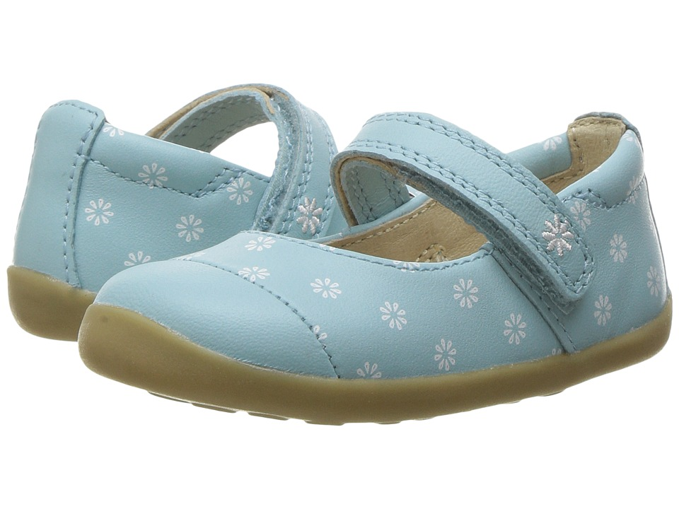 Bobux Kids - Step-Up Classic Swing (Infant/Toddler) (Aqua Daisies) Girl's Shoes