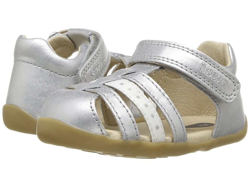 Bobux Kids - Step-Up Classic Jump (Infant/Toddler) (Silver) Girl's Shoes