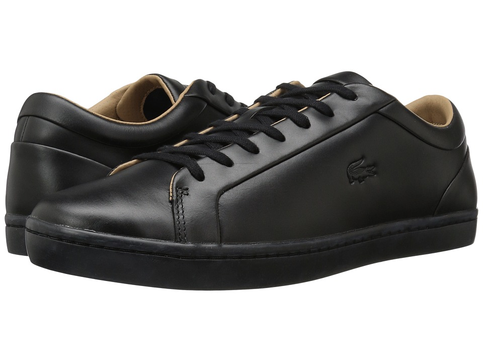 Lacoste - Straightset 117 1 Cam (Black) Men's Shoes