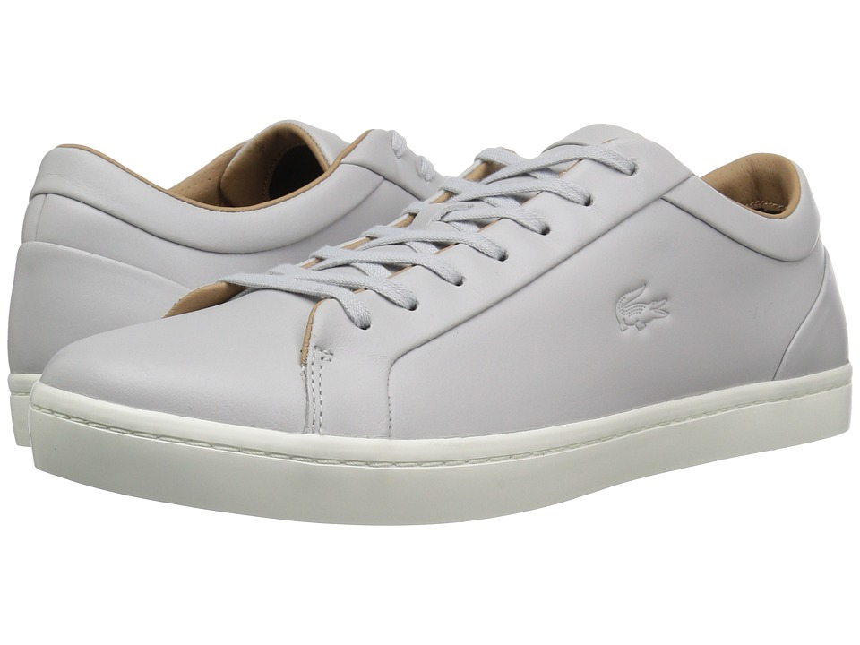 Lacoste - Straightset 117 1 Cam (Light Grey) Men's Shoes