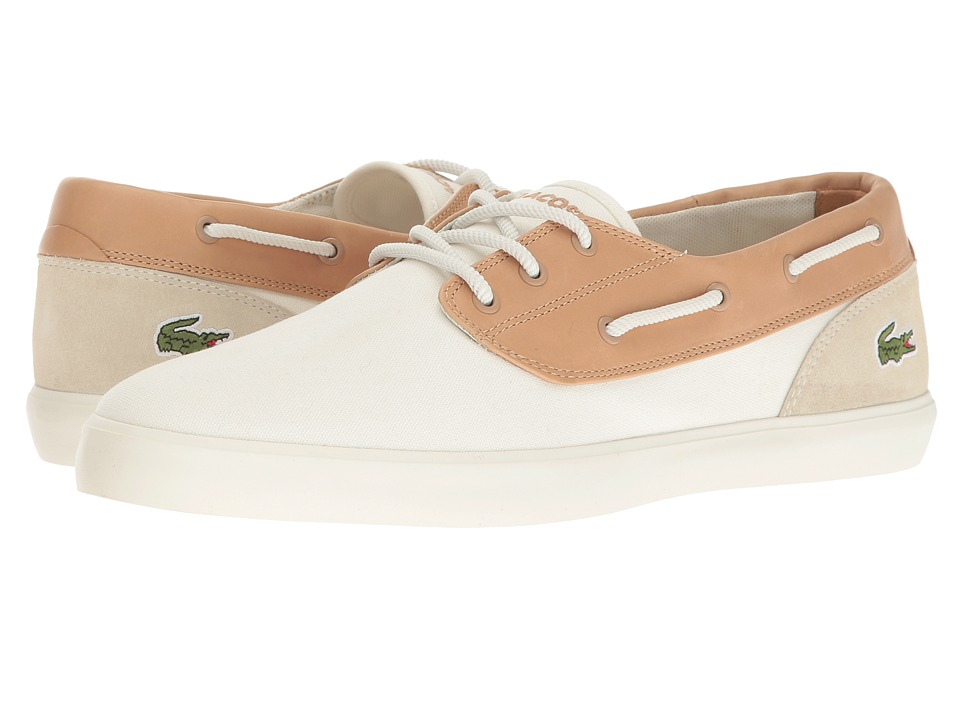 Lacoste - Jouer Deck 117 1 Cam (Off-White) Men's Shoes