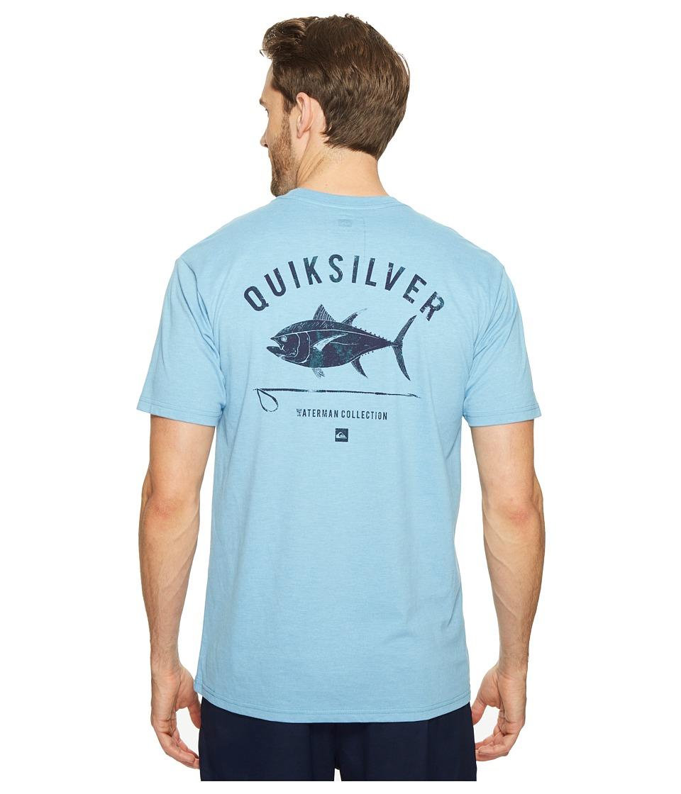 Quiksilver Waterman - Big Eye Tee (Niagara Heather) Men's T Shirt