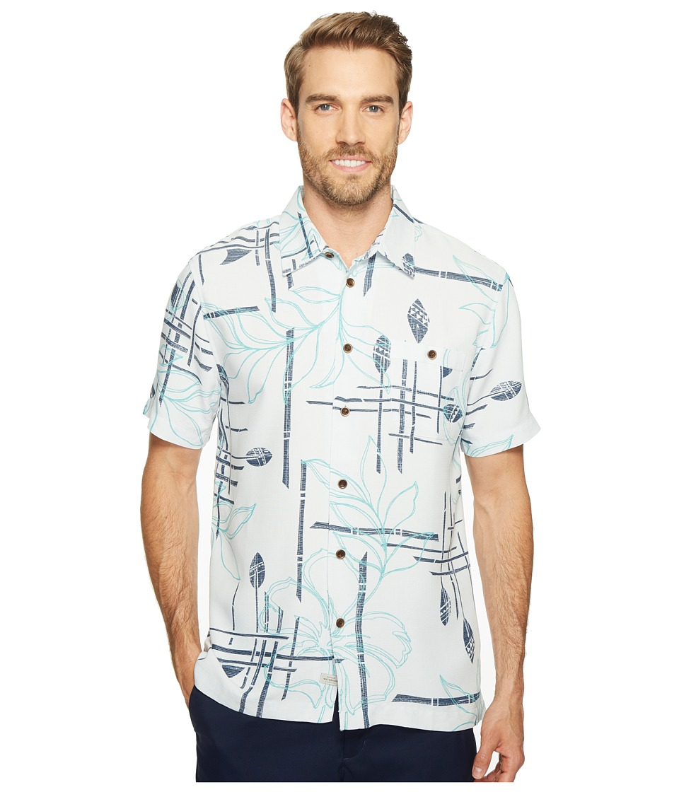 Quiksilver Waterman - Paddle Out Woven Top (Glacier) Men's Short Sleeve Button Up