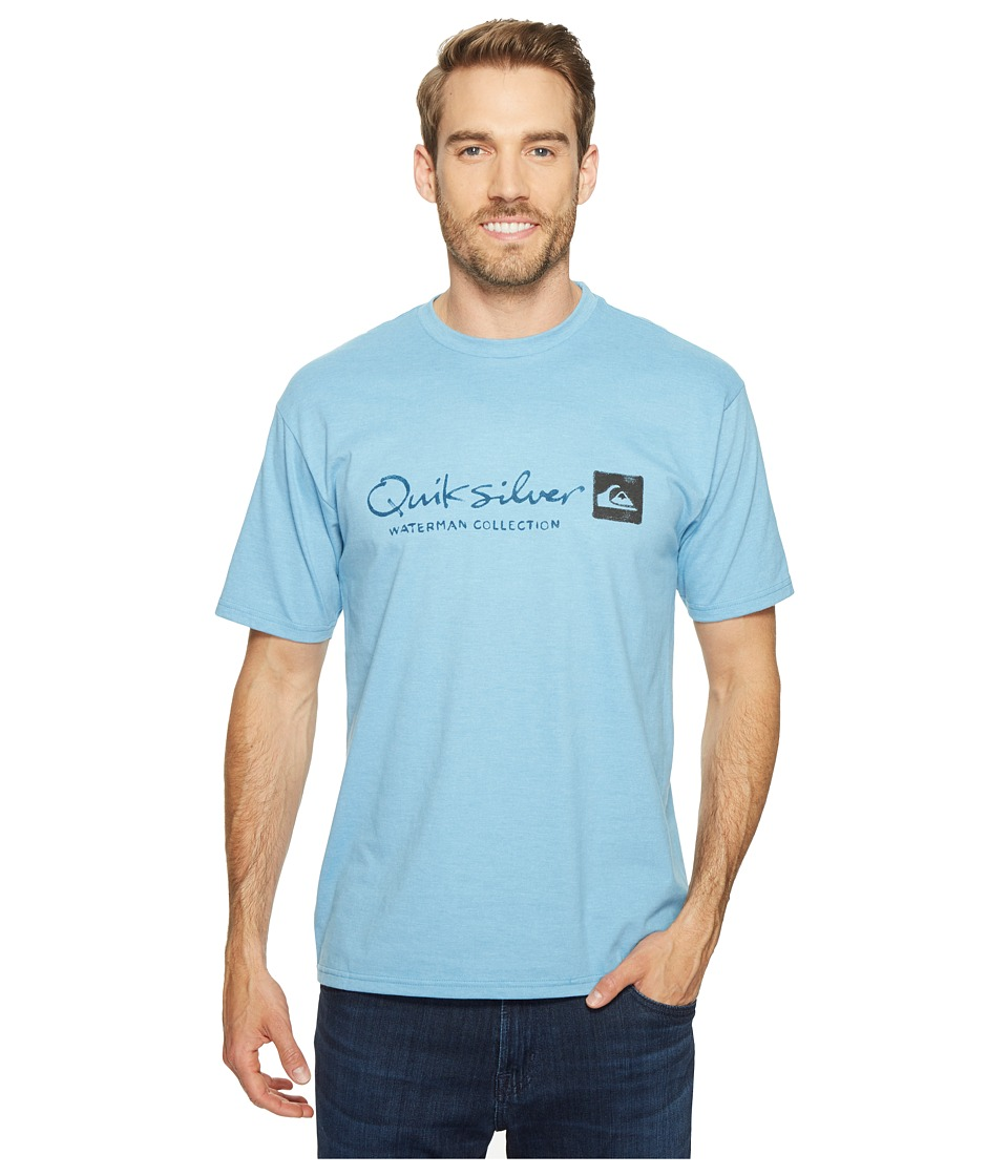 Quiksilver Waterman - Waterman Original Tee (Niagara Heather) Men's T Shirt