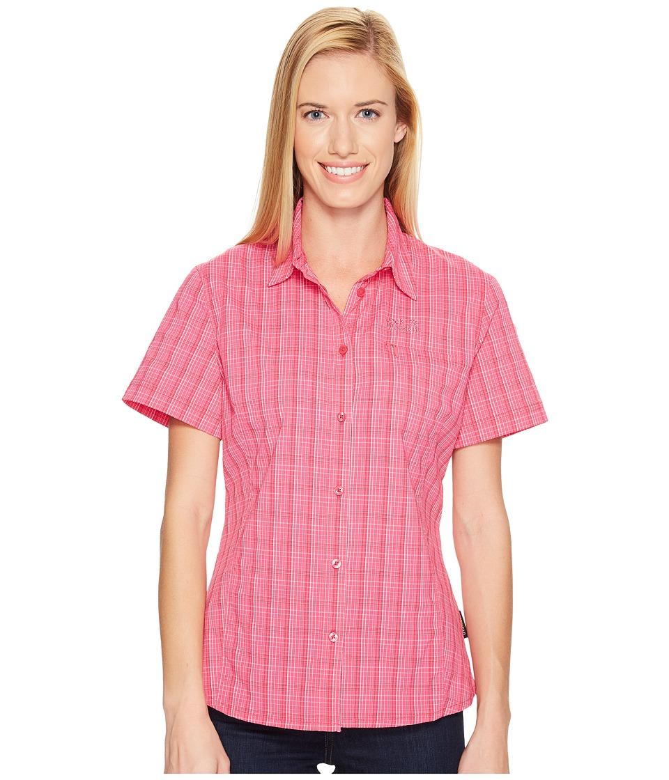 Jack Wolfskin - Centaura Stretch Vent Shirt (Tropic Pink Checks) Women's Clothing