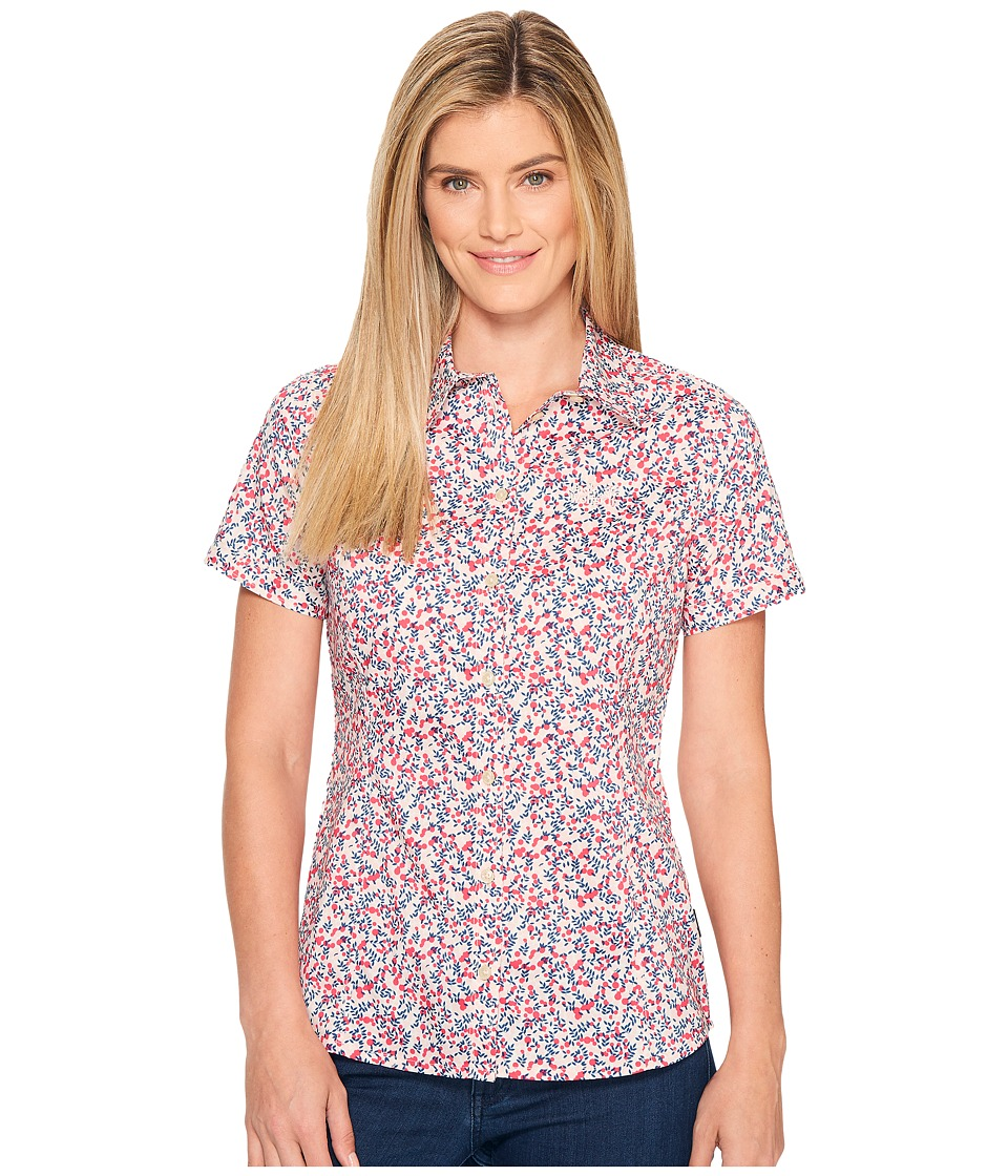 Jack Wolfskin - Sonora Millefleur Shirt (Tropic Pink All Over) Women's Clothing