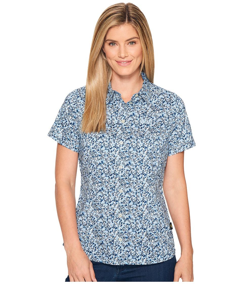 Jack Wolfskin - Sonora Millefleur Shirt (Ocean Wave All Over) Women's Clothing