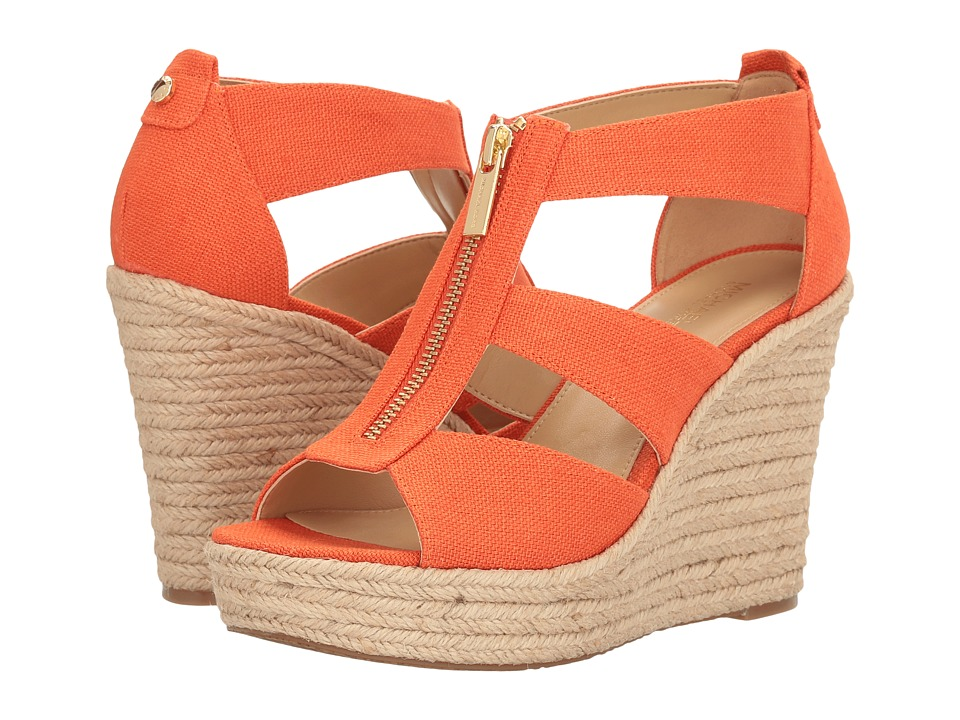MICHAEL Michael Kors - Damita Wedge (Mimosa Small Weave Canvas) Women's Wedge Shoes